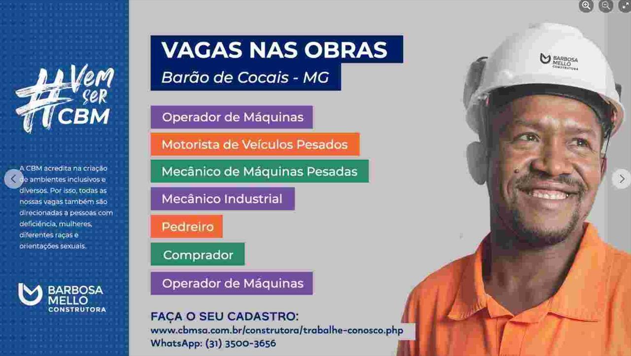 Construtora Barbosa Mello - Vagas para motoristas